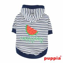 Happyday Hooded Dog Shirt by Puppia - Navy