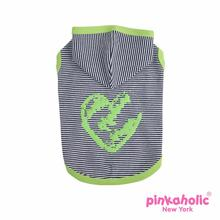 Harper Sleeveless Dog Hoodie by Pinkaholic - Green