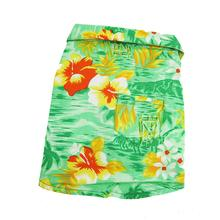 Hawaiian Print Dog Shirt - Green