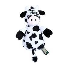 Hear Doggy Flattie Dog Toy - Cow
