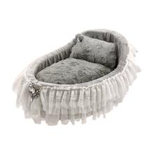 Hello Doggie Crib Collection Pet Bed - Sterling