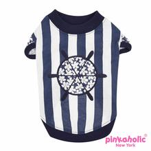 Helm Dog Shirt by Pinkaholic - Navy