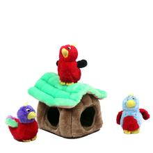 Hide-a-Bird Plush Dog Toy