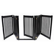 Highlander Free Standing Walk-Through Dog Gate - Black