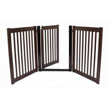 Highlander Free Standing Walk-Through Dog Gate - Mahogany