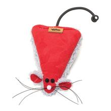 Holiday Big Sky Mouse Cat Toy - Crimson