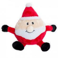Holiday Brainey Dog Toy - Santa