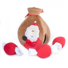 Holiday Burrow Dog Toy - Santa's Gift Bag