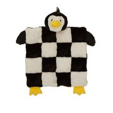 Holiday Penguin Squeaker Mat Dog Toy