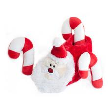 Holiday Slipper Nest Dog Toy - Santa