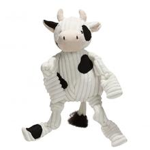 HuggleHounds Barnyard Knotties Dog Toy - Cow
