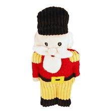 HuggleHounds Holiday Cookie Shaped Dog Toy - Nutcracker