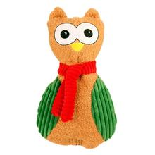HuggleHounds Holiday Cookie Shaped Dog Toy - Owl