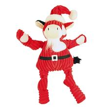 HuggleHounds Holiday Knottie Dog Toy - Santa Cow