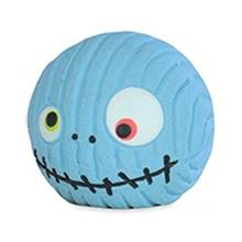 HuggleHounds Ruff-Tex Zombie Head Dog Toy - Blue