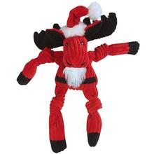 HuggleHounds Santa Moose Knottie Dog Toy