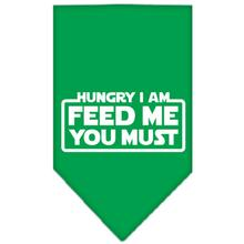 Hungry I am Dog Bandana - Green