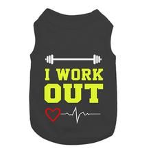 I Work Out Dog Tank by Parisian Pet - Black