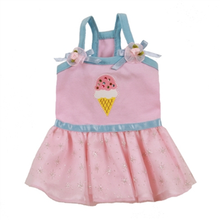 Ice Cream Dog Sundress - Pink