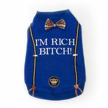 I'm Rich Bitch Dog Shirt by Dogs of Glamour - Blue