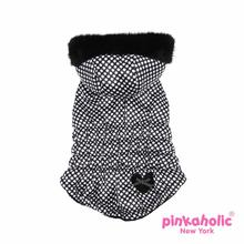 Imperial Hooded Dog Vest by Pinkaholic - Black