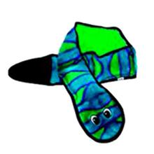 Invincibles Snake Squeaker Dog Toy - Blue/Green