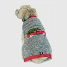 Jack's Marled Truck and Tree Dog Sweater - Red