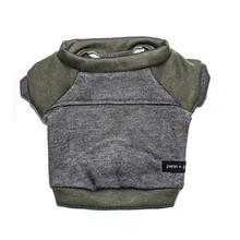 Kellan Dog Sweatshirt by Penn + Pooch - Deep Gray and Olive