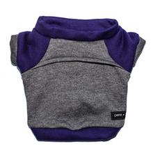Kellan Dog Sweatshirt by Penn + Pooch - Deep Gray and Purple
