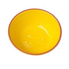 Key West Embossed Bone Dog Bowl - Lemon