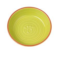Key West Embossed Paw Pet Saucer - Lime