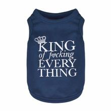 King of F*cking Everything Dog Tank by Dogs of Glamour - Blue