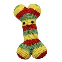 Knit Knacks Bob the Rasta Bone Organic Dog Toy