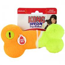 KONG OFF/ON Squeaker Dog Toy - Orange Bone
