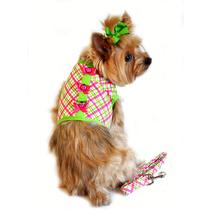 Lady Bug Plaid Dog Harness by Doggie Design