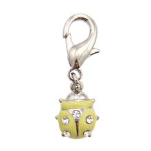 Ladybug D-Ring Pet Collar Charm by FouFou Dog - Yellow
