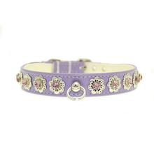 Lavender Delight Flower Dog Collar