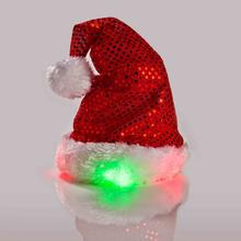 LED Holiday Headband Dog Santa Hat