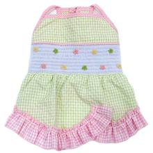Life's a Picnic Smocked Dog Dress by Oscar Newman