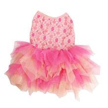 Lace Hankerchief Dog Dress by Pawpatu - Light Pink