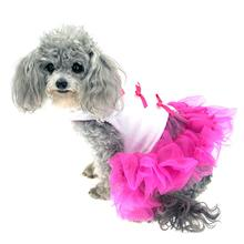 Little Ballerina Tutu Dog Harness Dress w/ Leash - Hot Pink