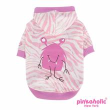 Little Monster Hooded Dog Shirt by Pinkaholic - Pink