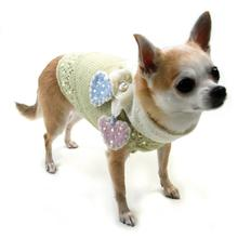 Little Sweet Hearts Dog Sweater and Scarf Set by Oscar Newman