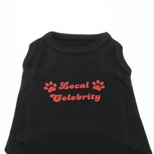 Local Celebrity Dog Shirt - Black