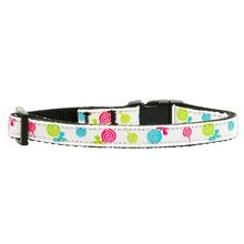 Lollipops Nylon Safety Cat Collar - White