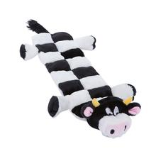 Long Body Cow Squeaker Mat Dog Toy