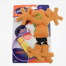 Longshots Launch Set Dog Toy - Orange Frog