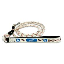 Los Angeles Dodgers Frozen Rope Leather Dog Leash