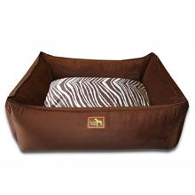 Luca Lounge Dog Bed - Chocolate/Brown Zebra