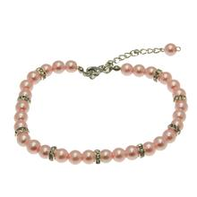 Luxe Pearl Dog Necklace - Pink
